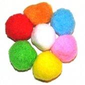 Набор цветных помпонов