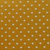 Фетр жёлтый с сердечками
