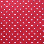 Фетр красный с сердечками