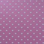 Фетр розовый с сердечками