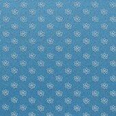 Фетр голубой в цветочек