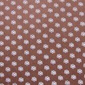 Фетр коричневый в цветочек