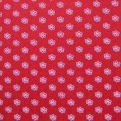 Фетр красный в цветочек