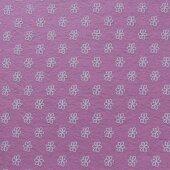 Фетр розовый в цветочек