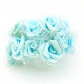 Розочки голубые бархатные