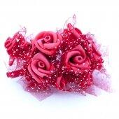 Розочки красные бархатные