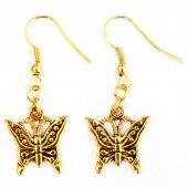 Серьги Золотая бабочка