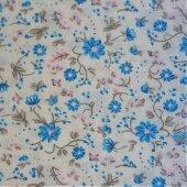Ткань для тильды Blue flowers