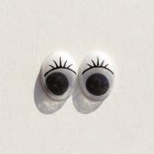Глазки белые овальные 12*15 мм