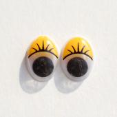 Глазки жёлтые овальные 12*15 см