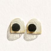 Глазки белые полуовальные 10 мм